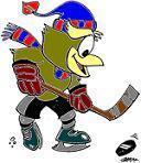 Ookpik playing hockey!