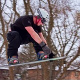 Snowboard Leap by Harvey R