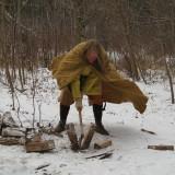 Sharp Axe, Wood Split Half! by Dora C