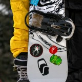 Colourful Snowboarder by David W