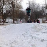 Skier At Snowboarding Competition